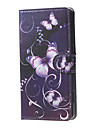 For Nokia Case Wallet / Card Holder / with Stand Case Full Body Case Butterfly Hard PU Leather Nokia Lumia 650