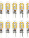 YWXLIGHT® 10pcs G4 2.5W 14*2835SMD 250LM Warm/Cool White T DC 10-12V/AC 220-240V