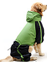 Cat / Dog Rain Coat Red / Green Dog Clothes Summer / Spring/Fall Color Block Waterproof / Windproof