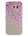 Plum Pattern TPU Relief Back Cover Case for Galaxy S5/Galaxy S6/Galaxy S6 edge/Galaxy S6 edge Plus
