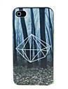 iphone 4 / 4Sのための夜のパターンハードケースにおける森林