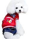 Собаки Толстовки / Комбинезоны Красный / Желтый Одежда для собак Зима Джинсы / Буквы и цифры Мода