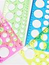 искусство изготовления рюш бумаги круглый шаблон - 4 цвета случайным