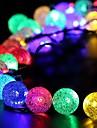 야외, 정원, 가정, 결혼, 크리스마스 파티 40led 크리스탈 볼 배터리 문자열 조명 소유주 왕, 방수