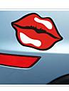 смешно популярный логотип губы окно автомобиля стикера автомобиля автомобиля этикета стены стиль (1pcs)