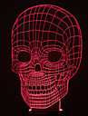 визуальный 3d череп изменения цвета водить украшения USB настольная лампа красочный подарок ночник