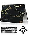 """3 em 1 marmore caso de corpo inteiro + capa de teclado + ficha de poeira para MacBook Pro 13 """"/ 15"""""""