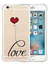 amour eternel retour silicone etui transparent souple pour iphone 6 / 6s (couleurs assorties)