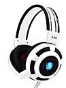 yoro f15 Gaming-Headset Stereo-Rauschen mit Cancelling-Mikrofon& Lautstaerkeregler-LED-Leuchten fuer PC / Notebook / Laptop