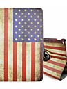 Special Design Novelty The American Flag PU Leather Folio Case Holster 360⁰ Case for iPad Pro