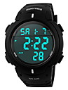 SKMEI® Men's Sporty Black Watch Digital LCD Display Calendar/Chronograph/Alarm/Water Resistant Cool Watch Unique Watch
