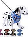 Dog Harness / Leash Adjustable/Retractable Plaid/Check Red / Blue / Yellow / Rose Nylon