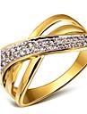 Массивные кольца Цирконий Медь Платиновое покрытие Позолота 18K золото Белый Золотой/Белый Бижутерия ДляСвадьба Для вечеринок