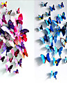 3D three-dimensional wall stickers butterfly wall stickers size 12 suit wedding curtain window display stickers