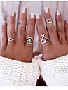 Кольца Повседневные Бижутерия Сплав Массивные кольца 1 комплект,Стандартный размер Золотой