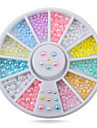 1wheel Colorful Pearls 3d Nail Art Decorations