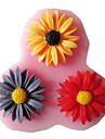 Three Holes Sunflower Silicone Mold Fondant Molds Sugar Craft Tools Resin flowers Mould  For Cakes