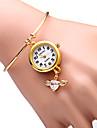 JUBAOLI Mulheres Relogio de Moda Bracele Relogio Quartzo Lega Banda Brilhante Heart Shape Dourada
