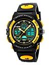 SKMEI Per bambini Orologio sportivo Quarzo Quarzo giapponese LCD Calendario Cronografo Resistente all\acqua Due fusi orari allarme Gomma
