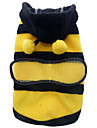 Cat / Dog Costume / Coat / Hoodie / Outfits Yellow Winter / Spring/Fall Animal / Stripe Cosplay / Halloween