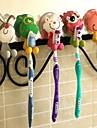 PVC Cartoon Suction Toothbrush Holder(Random Color)