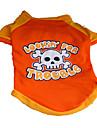 Собаки Футболка Оранжевый Одежда для собак Лето Черепа