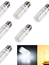 4W E14 / E26/E27 LED лампы типа Корн T 56 SMD 5730 240 lm Тёплый белый / Холодный белый Декоративная AC 220-240 / AC 110-130 V 6 шт.
