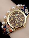 Женские Модные часы Часы-браслет Повседневные часы Кварцевый Кожа Группа Богемные Жемчуг Черный Синий Красный Оранжевый Зеленый Бежевый