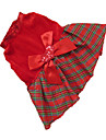 Dog Dress Red Dog Clothes Winter Plaid/Check