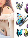 1 Tatuagens Adesivas Series Animal A Prova d\'aguaFeminino Masculino Adulto Flash do tatuagem Tatuagens temporarias