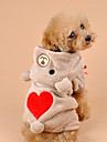 Dog Hoodie Brown / Gray Winter Hearts Cosplay