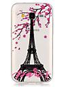Para Samsung Galaxy Capinhas Transparente Capinha Capa Traseira Capinha Torre Eiffel TPU Samsung Grand Prime / Core Prime