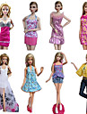 Princess Costumes For Barbie Doll Dresses Skirts Tops Pants For Girl\'s Doll Toy