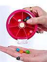Boite / Etui a Medicaments de Voyage Portable pour Accessoires d\'Urgence de Voyage Plastique-Orange Peche Rouge de Rose Vert Bleu