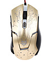 JITE 6D Gaming Mouse 6 Keys Wired Lighting USB Mouse White Black Gold