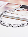 Men's Stainless Steel High Polish Medical ID Chain & Link Bracelet(8inchs)