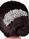 peignes perles de cristal d\'argent pour les bijoux dame fete de mariage