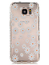 For Samsung Galaxy S7 Edge Transparent / Pattern Case Back Cover Case Flower TPU Samsung S7 edge / S7