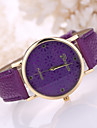 Women's Leather Band White Flower Case Analog Quartz Wrist Watch Cool Watches Unique Watches