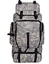Camouflage Outdoor Mountaineering Bags 90L Large Capacity Shoulder Bag Men And Women In Camouflage