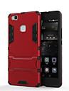 Para Capinha Huawei / P9 / P9 Lite / P8 / P8 Lite / Mate 8 Antichoque / Com Suporte Capinha Capa Traseira Capinha Armadura Rigida PC para
