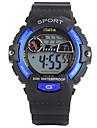 Дети Спортивные часы LED Календарь Секундомер Защита от влаги тревога Светящийся Хронометр Фосфоресцирующий Цифровой PU Группа Черный