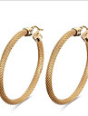 Feminino Moda Bijuterias Destaque Europeu Aco Titanio 18K ouro Forma Geometrica Joias Para Festa Diario Casual