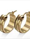 Нержавеющая сталь 18K золото Мода Круглый Золотой Бижутерия Для вечеринок Повседневные 1 пара