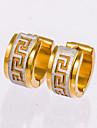 Серьги-гвоздики Серьги-кольца Черный Золотой Бижутерия Свадьба Для вечеринок Повседневные Новогодние подарки 1 пара