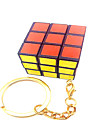 Smooth Speed Cube 3*3*3 Key Chain / Speed Magic Cube White Plastic