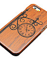 147 iPhone 5 Case Case Cover Embossed Back Cover Case Cartoon Hard Wooden for Apple iPhone SE/5s iPhone 5