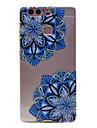 materiau tpu motif de fleur en diagonale cas de telephone mince pour huawei p9 Lite / p9
