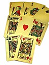 Waterproof Plastic Scrub Gold Foil Poker Texas