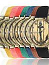 Women/Men\'s Fabric Denim Band Analog Anchor Case  Wrist Watch Jewelry